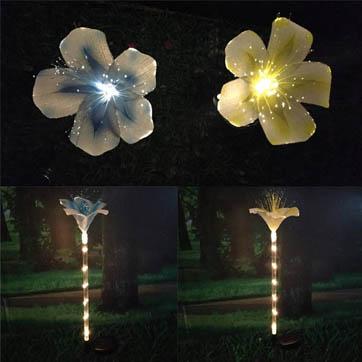 száloptikás virág díszítő fény